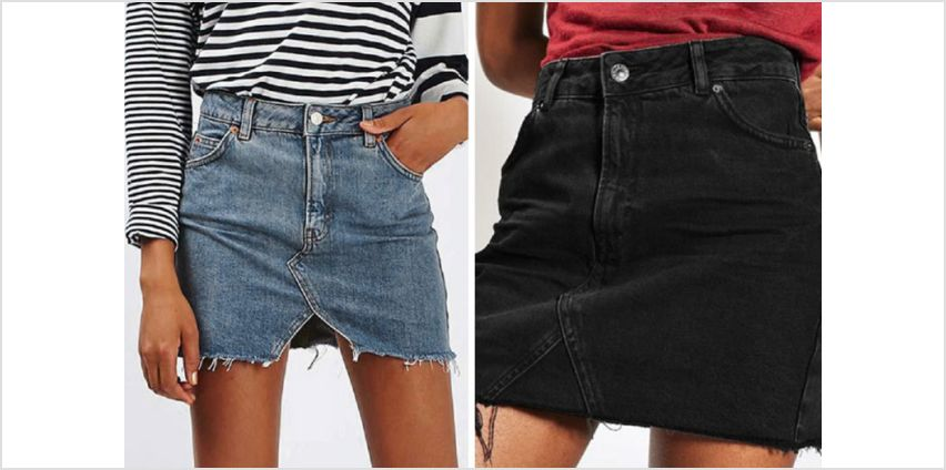 £9.99 instead of £29.99 (from Backtogoo) for a mini denim skirt – choose from three designs and UK sizes 10-16 and save 67% from Wowcher