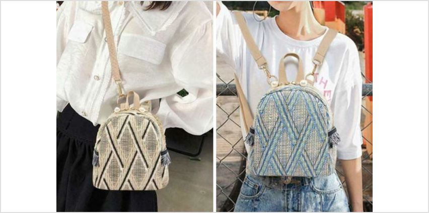 £6.99 instead of £29.99 (from BacktoGoo) for a Boho-inspired backpack - choose from three colours and save 77% from Wowcher