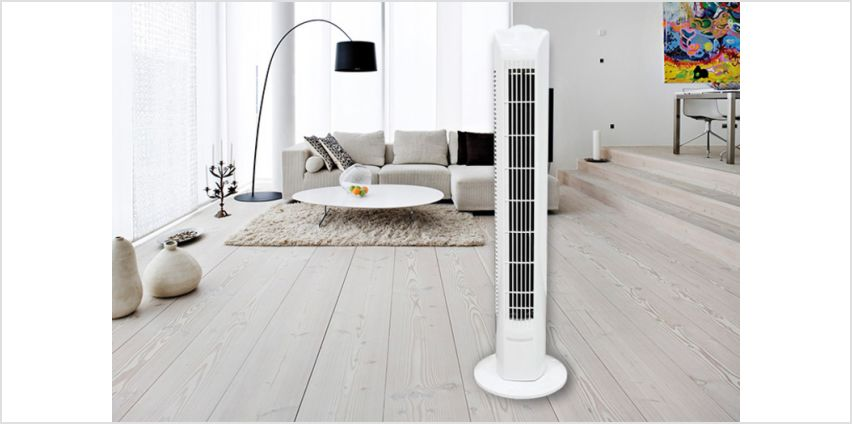 "£18.99 instead of £69.99 (from Wishwhooshoffers) for a 16"" tower fan – save 73% from Wowcher"