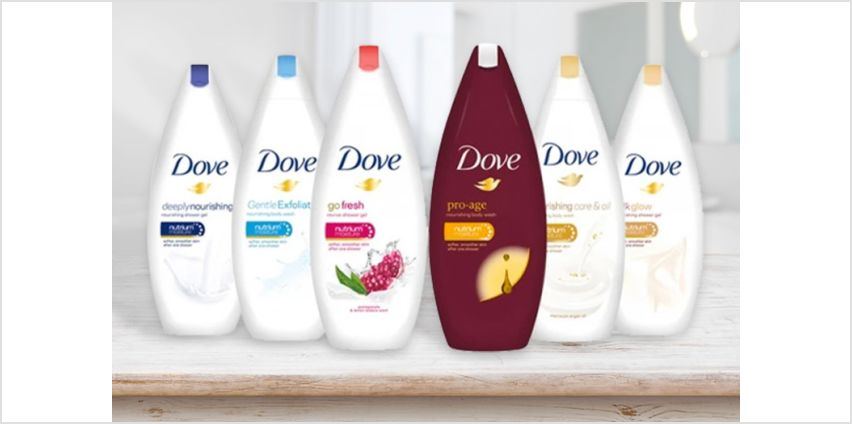 £9 instead of £19.99 (from Avant Garde) for a six-pack of Dove body washes –save 55% from Wowcher