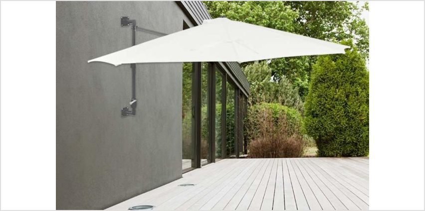£59 (from vidaXL) for a wall-mounted parasol – choose from two colours from Wowcher