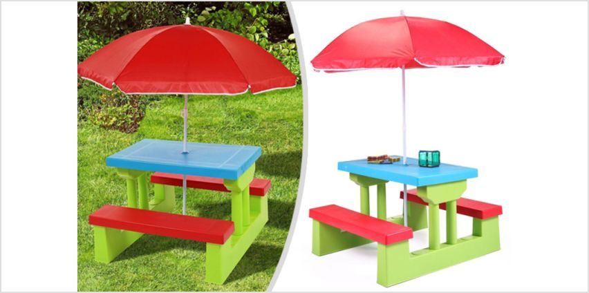£29.99 instead of £69.99 for a kids' picnic table & bench set from Zoozio - save 57% from Wowcher