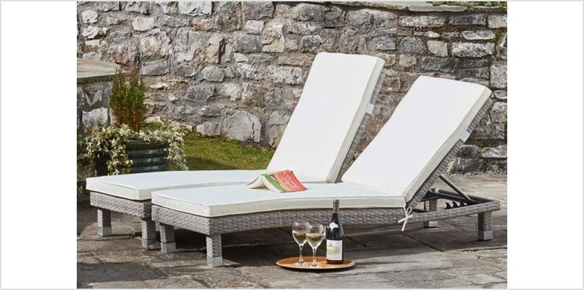 £179 instead of £290.04 (from CJ Offers) for a rattan sun lounger twin pack or £199 for a twin pack with covers - save up to 38% from Wowcher