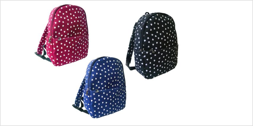 £6.99 (from JC Unique) for a heart backpack from Wowcher