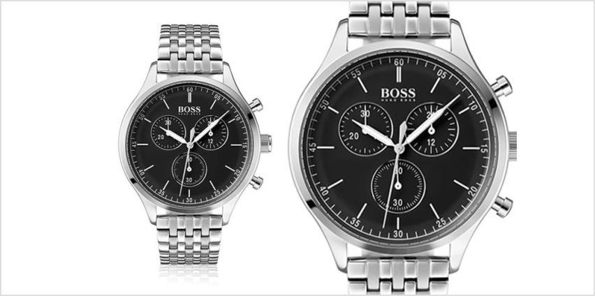 £139 instead of £346 (from The Best Watch Shop) for a Hugo Boss men's HB1513652 silver navigator watch - save 60% from Wowcher