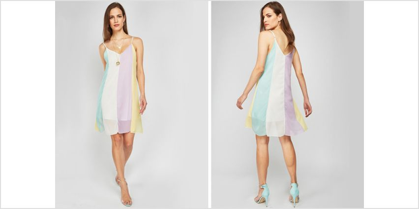 £4.99 (from Cascabelle) for a rainbow beach swing dress - save 56% from Wowcher