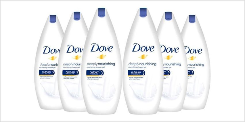 £7.99 instead of £19.99 for a six-pack of Dove shower gels from Avant-Garde Brands Ltd - save up to 60% from Wowcher