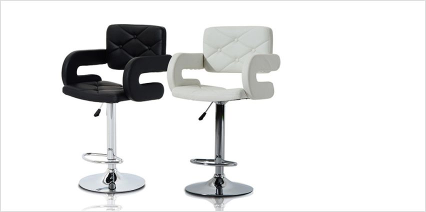 £42 instead of £89 (from MHStar) for a stylish bar stool - choose from two styles and two colours and save 53% from Wowcher