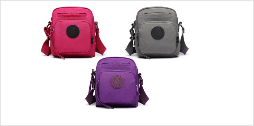 £9.99 (from Shavont) for a multi-pocket cross-body travel bag - choose from three colours from Wowcher