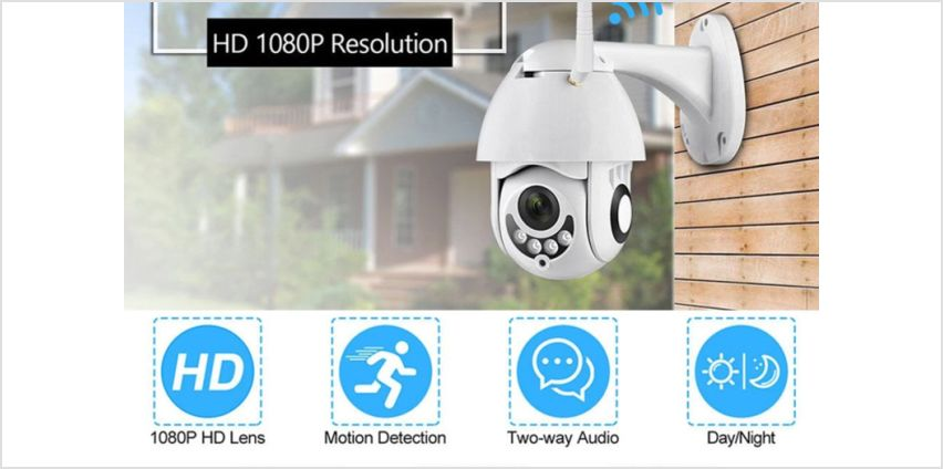 £39.99 instead of £199.99 for a 1080P home security Wi-Fi camera with night vision from Domo Secret - save 80% from Wowcher