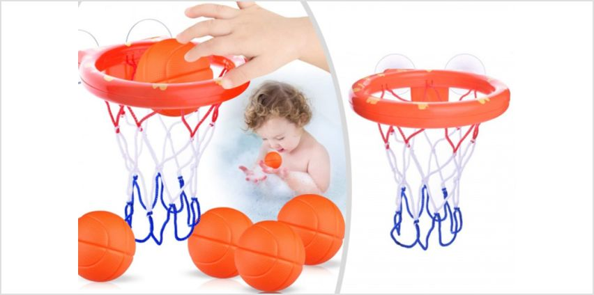 £6.99 instead of £19.99 for a kids' stick on basketball & hoop set from My Brand Logic - save 65% from Wowcher