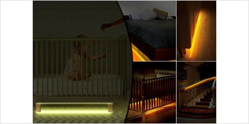 From £11.99 for a dimmable underbed light with motion sensor from My Brand Logic - save up to 70% from Wowcher