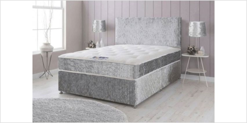 From £69 instead of from £570 (from Dining Tables) for a crushed velvet divan bed with memory spring mattress & plain headboard - choose from six sizes with optional drawers, and save up to 88% from Wowcher