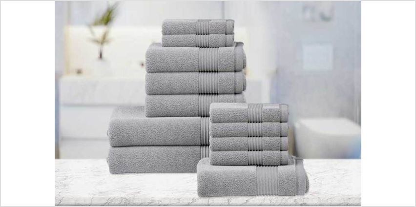 From £7.99 instead of £24.99 (from Fusion Online) for a six-piece luxury cotton towel set, or from £15.99 for a 12-piece towel set - choose from 12 colours and save up to 68% from Wowcher