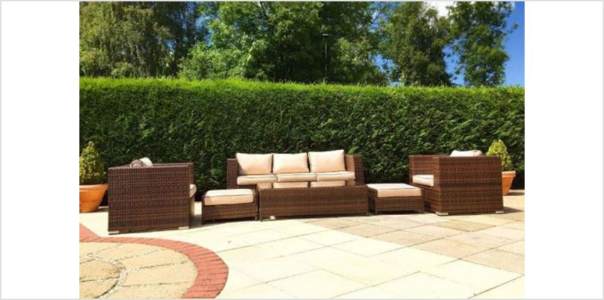 £799 instead of £1898 (from Rattan Direct) for a durable three seater polyrattan garden furniture sofa set - save 58% from Wowcher