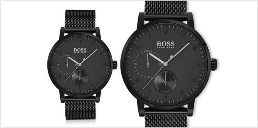£139 instead of £346 (from Best Watch Company) for a Hugo Boss men's oxygen HB1513636 black mesh watch –save 60% from Wowcher