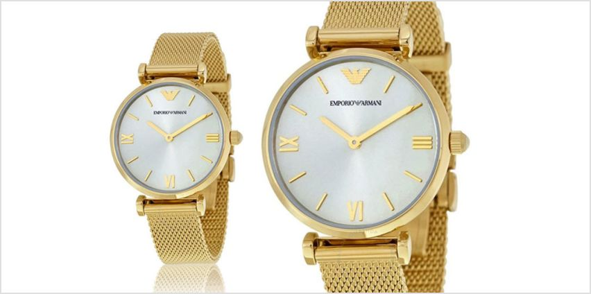 £119 instead of £329 (from Ticara Watches) for a Emporio Armani AR1957 ladies retro gold watch - save 64% from Wowcher