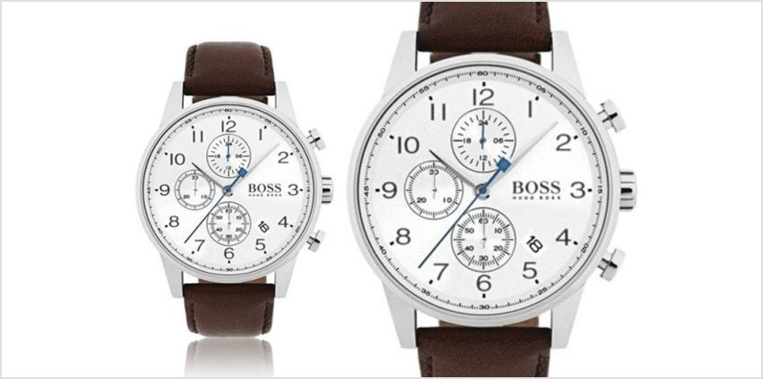 £139 instead of £346 (from Best Watch Company) for a Hugo Boss HB1513495 men's brown leather watch - save 60% from Wowcher