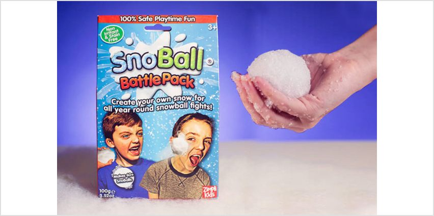 £2.99 instead of £4.99 (from Zimplikids) for a Snoball Battle Pack, £4.99 for two packs, £7.99 for four packs or £9.99 for five packs - save up to 40% from Wowcher