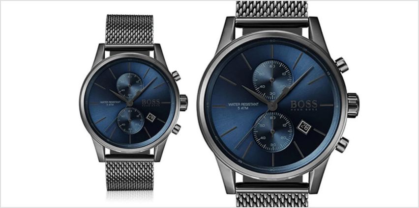 £139 instead of £349 (from The Best Watch Shop) for a Hugo Boss men's HB1513677 grey chronograph watch - save 60% from Wowcher