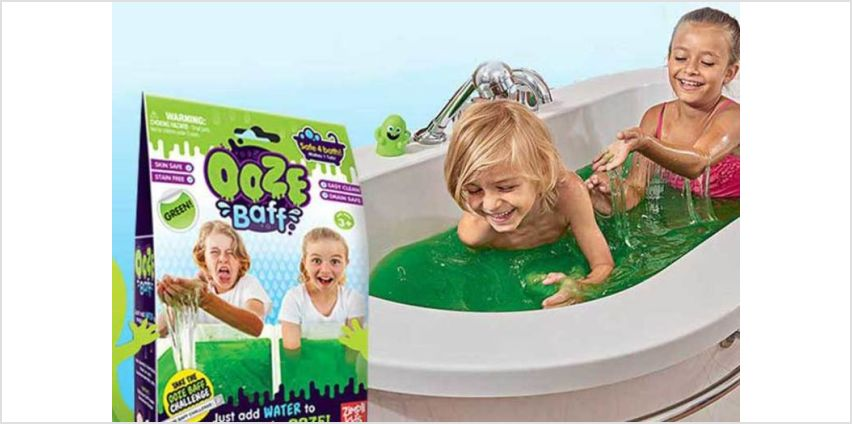 £2.99 (from Zimpli Kids) for a 150g pack of green Slime Baff - make bath time fun! from Wowcher
