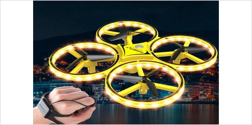 £19 instead of £49.99 (from Wow What Who) for a 6-axis quadcopter hand sensor LED drone - save 62% from Wowcher