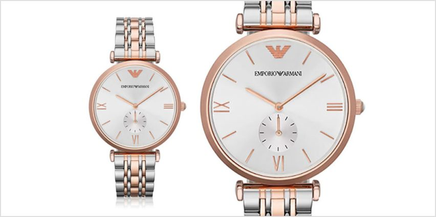 £109 instead of £299 (from Ticara Watches) for a men's Emporio Armani AR1677 two-tone watch - save 64% from Wowcher