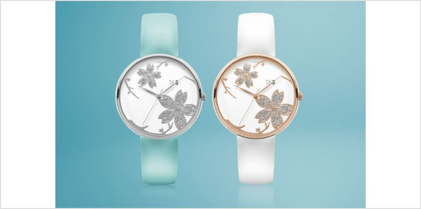 £14.99 instead of £51.99 (from Tick & Ogle) for a silver turquoise Pistil 26 leather ladies' watch or £18.99 for a rose gold white Pistil 26 leather ladies' watch - save up to 71% from Wowcher