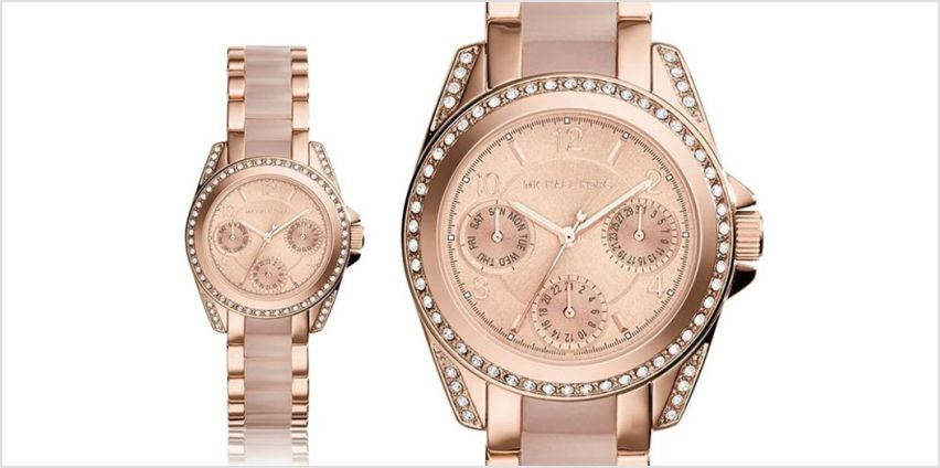 £109 instead of £279 (from Ticara Watches) for a ladies' Michael Kors MK6175 rose gold mini blair watch - save 61% from Wowcher
