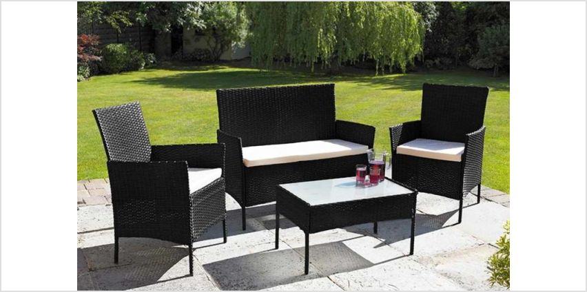 £99 instead of £570 (from Home Empire) for a four-piece Oakfield rattan garden furniture set - save 83% from Wowcher