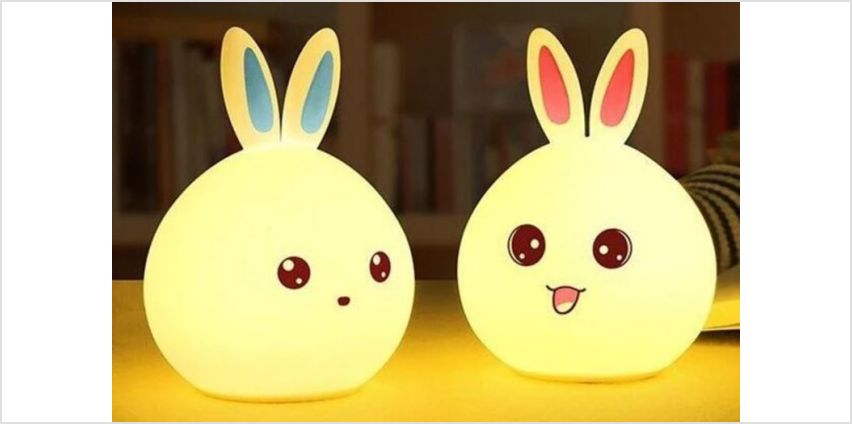 £7.99 instead of £29.99 for a silicone LED rabbit night light - choose from two colours from AC Electronic Limited- Domo Secret - save 73% from Wowcher