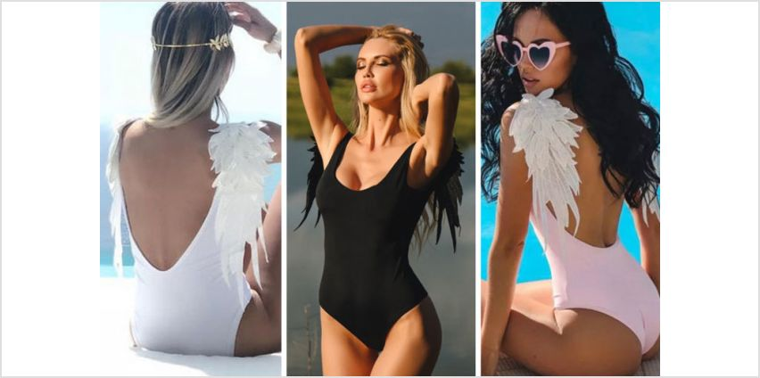 £7.99 instead of £23 (from SpeZzee) for an angel wing backless swimsuit - save 65% from Wowcher