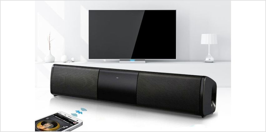 £16 instead of £69.99 (from WowWhatWho) for a Dual speaker cinematic bluetooth soundbar – save 77% from Wowcher