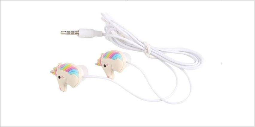 £4.99 instead of £19.99 for Unicorn Shaped Earphones from London Exchain Store - save 75% from Wowcher