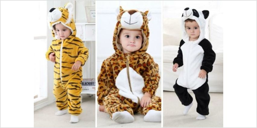 £12 instead of £39.99 for a kid's animal onesie - choose from three designs from Blu Fish - save up to 70% from Wowcher