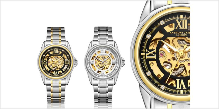 £29 (from Timepieces) for an Anthony James luxury automatic skeleton watch from Wowcher