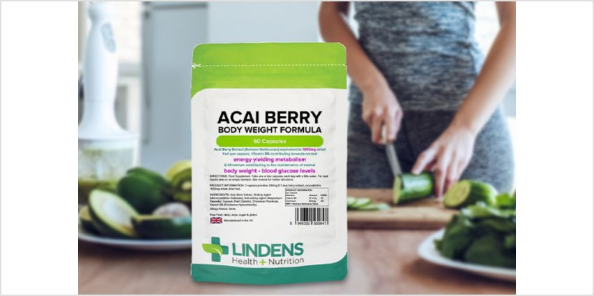 £4.99 instead of £5.99 (from Lindens) for an up to two month supply* of acai berry capsules - Save 17% from Wowcher