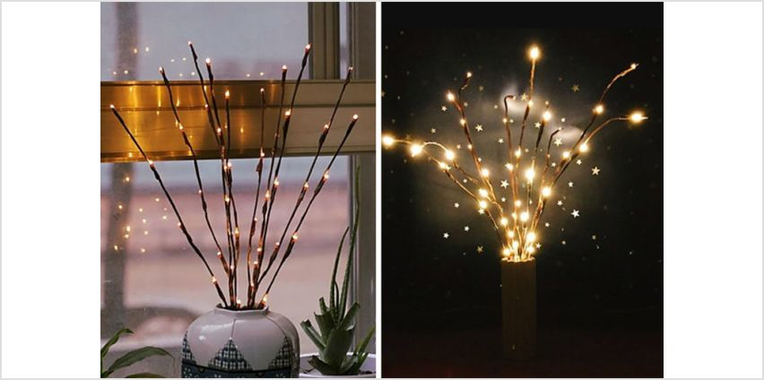 £6.99 instead of £29.99 (from Turbo Dealz) for an artificial LED willow branch with LED lights, or £10.99 for two branches - save up to 77% from Wowcher