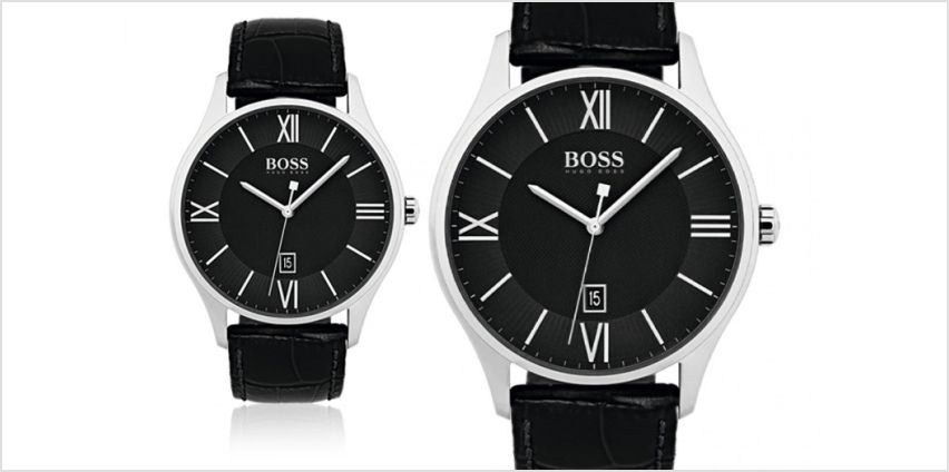 £99 instead of £225 (from Brand Arena) for a Huge Boss black men's leather watch - save 56% from Wowcher