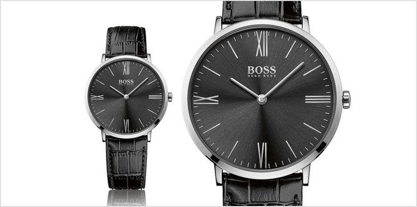 £89 instead of £200.01 (from Brand Arena) for a men's Hugo Boss men's black leather watch - save 56% from Wowcher