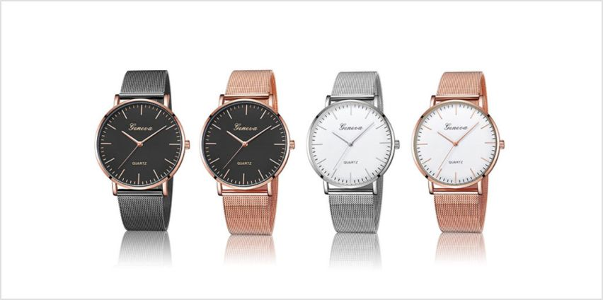 £12 instead of £99.99 (from Taylors Jewellery) for a mesh fashion watch – choose from four designs and save 88% from Wowcher