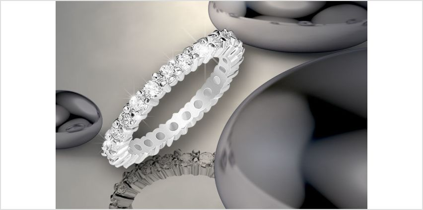 £6 instead of £58 for a cubic zirconia eternity ring from Evoked Design - save 90% from Wowcher