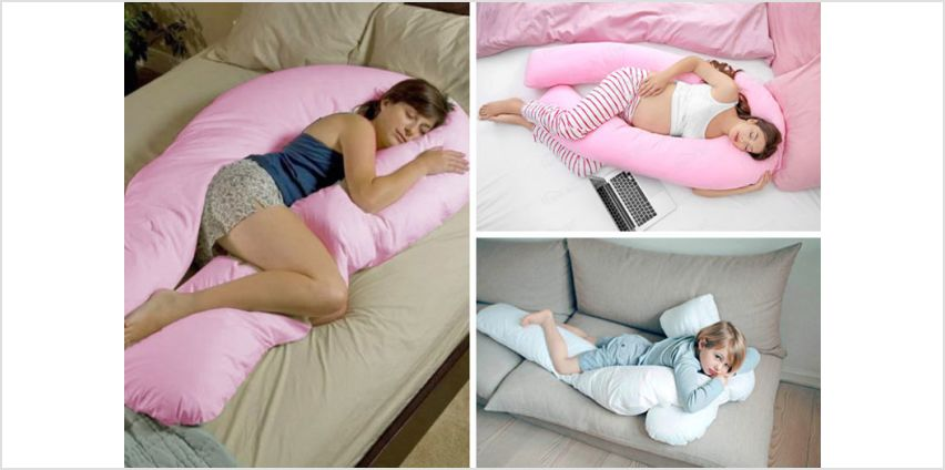From £12 instead of £41.01 (from HomeTex) for a giant U-shaped extra-soft support pillow or £16.99 for a pillow and pillowcase - save up to 71% from Wowcher