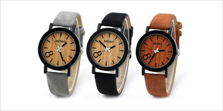 £5.99 instead of £19.99 for a woodgrain watch from Flybuddy Ltd - Magic Trend - save up to 70% from Wowcher