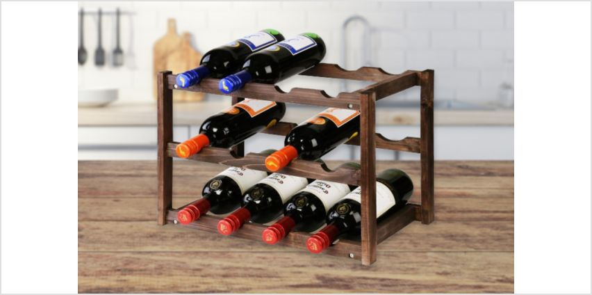 £7.99 (from Fushiononline) for a 3 tier wooden wine rack, £10.99 for a 4 tier! from Wowcher