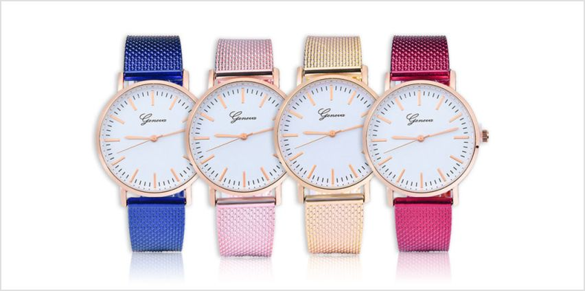 £12 instead of £99.99 (from Taylors) for a colourful Geneva classic quartz watch - save 88% from Wowcher