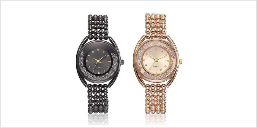 £19 instead of £99.99 (from Taylors) for a Quartz dancing crystal watch with pearl effect strap - save 81% from Wowcher