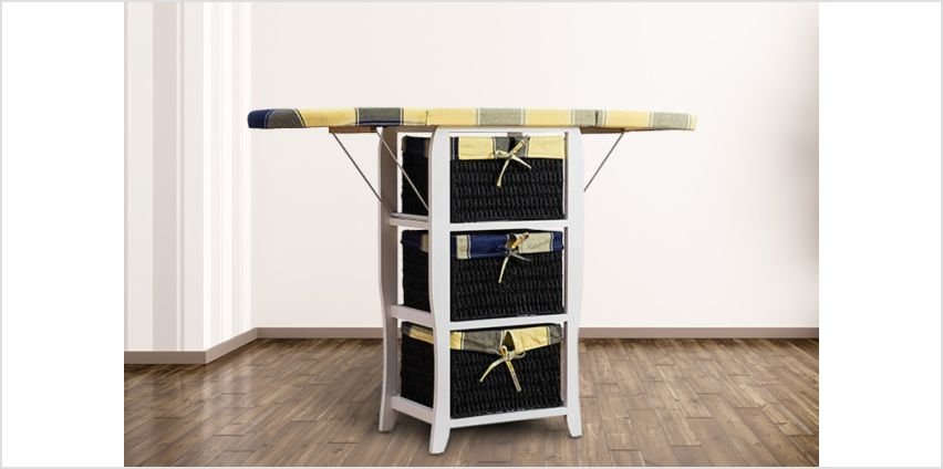 £49 (from Meriden Furniture) for a folding ironing board with storage! from Wowcher
