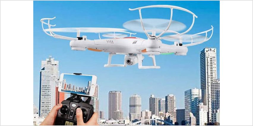 £25.99 instead of £79.99 (from Wow What Who) for a 2.4GHZ gyro RC quadcopter drone - save 68% from Wowcher