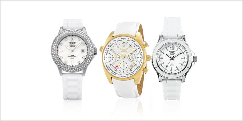 From £22 (from Brand Arena) for a ladies aviator watch - choose from four different designs and save up to 88% from Wowcher